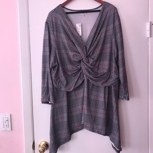 Avenue 3/4 Sleeve Plaid Shirt Size 26/28